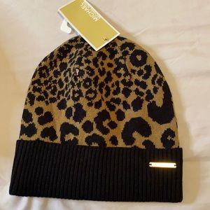 Micheal Kors Leopard Knit Beanie